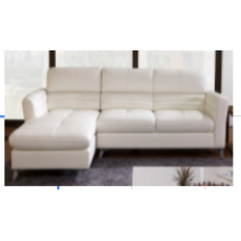 SOFA SET WITH HALF THIN LEATHER AND METAL LEGS